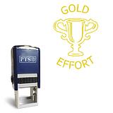 Gold Effort Trophy Pre-inked Stamper