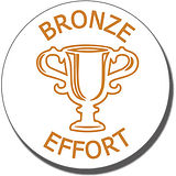 Bronze Effort Trophy Stamper - Bronze Ink (25mm)