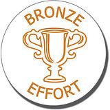 Bronze Effort Trophy Pre-inked Stamper