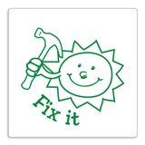 Green 'Fix It' Sun Stamper - Green Ink (25mm)