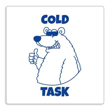 'Cold Task' Stamper - Polar Bear - Blue Ink (25mm)