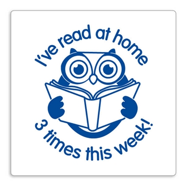 'I've read at home 3 times this week' Blue Owl Pre-inked Stamper