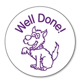 Well Done Dog Stamper - Purple Ink (25mm)