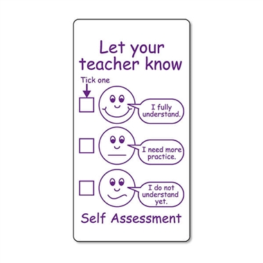 Self Assessment Stamper - Purple (42mm x 22mm)