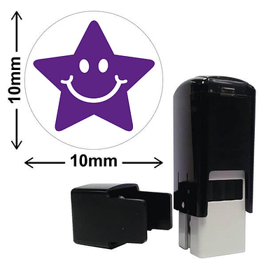 Star Image Mini Pre-inked Stamper - Purple Ink (10mm)