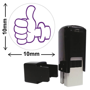 Thumbs Up Stamper - Purple Ink (10mm)
