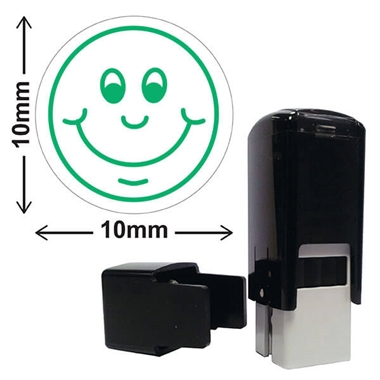 Smiley Face Stamper - Green Ink (10mm)