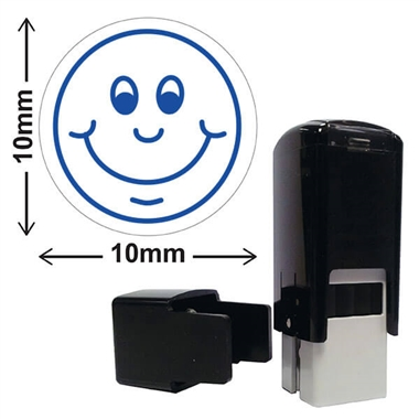 Smiley Face Stamper - Blue Ink (10mm)