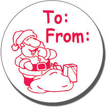 To and From Santa Sack Pre-inked Stamper