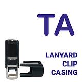 TA Blue ink 10mm Mini Pre-inked Stamper