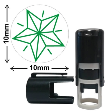 Green Star 10mm Mini Pre-inked Stamper