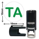 TA Green ink 10mm Mini Pre-inked Stamper