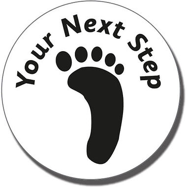 Your Next Step' Footprint Stamper - Black Ink (21mm)
