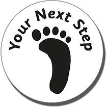 Your Next Step Footprint Pre-inked Stamper