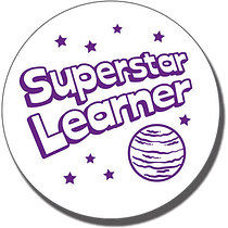 Superstar Learner' Stamper (21mm, Purple Ink)
