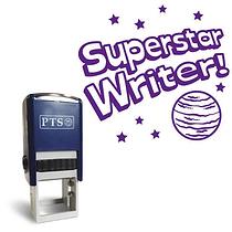 Superstar Writer' Stamper (21mm, Purple Ink)
