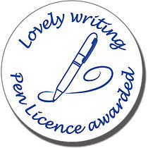 Lovely Writing - Pen Licence Awarded Pre-inked Stamper