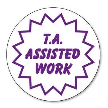 T.A. Assisted Work Stamper - Purple Ink (25mm)