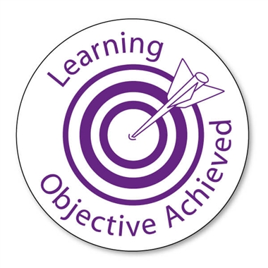 Learning Objective Achieved Stamper - Purple Ink (25mm)