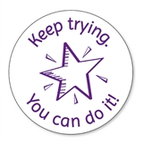 Keep Trying You Can Do It Stamper - Purple Ink (25mm)