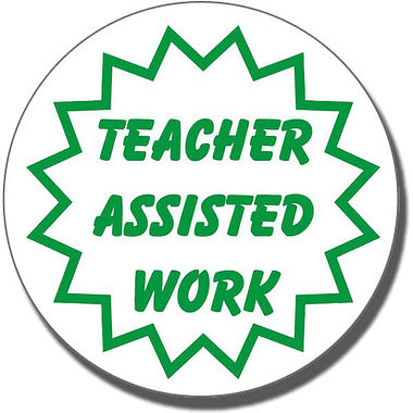 Teacher Assisted Work Stamper (25mm)