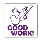 Good Work Tick Stamper - Purple Ink (25mm)