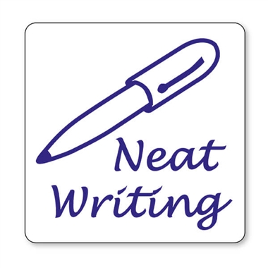 Neat Writing Stamper - Blue Ink (25mm)