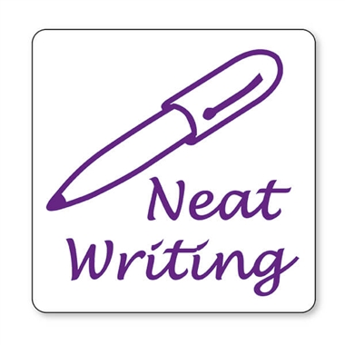 Neat Writing Stamper - Purple Ink (25mm)