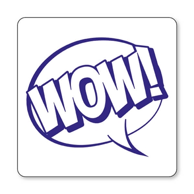 WOW! Speech Bubble Stamper - Blue Ink (25mm)