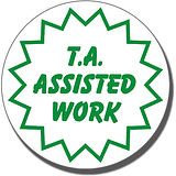 T.A. Assisted Work Stamper - Green Ink (25mm)