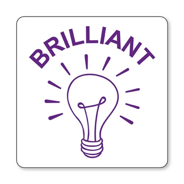 Brilliant Light Bulb Stamper - Purple Ink (25mm)