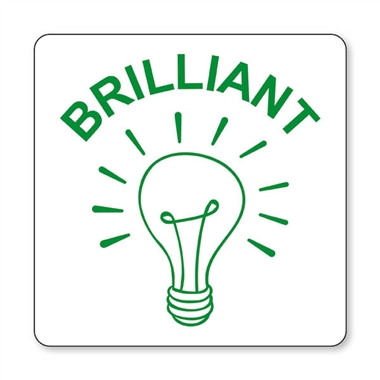 Brilliant Light Bulb Stamper - Green Ink (25mm)