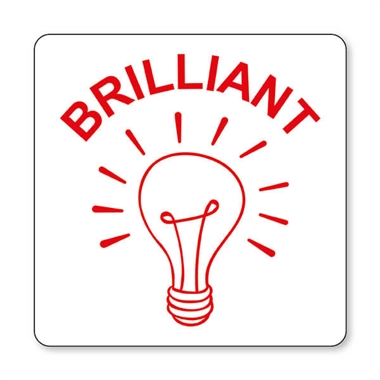 Brilliant Light Bulb Stamper - Red Ink (25mm)