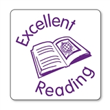 Excellent Reading Stamper - Purple Ink (25mm)