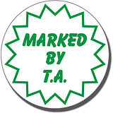 Marked by T.A. Pre-inked Stamper