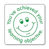 You've Achieved Your Learning Objective Stamper - Green Ink (25mm)