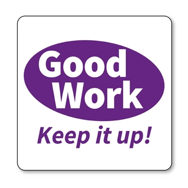 Good Work Keep it Up Stamper - Purple Ink (25mm)