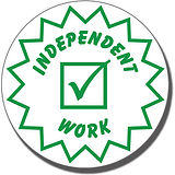 Independent Work Pre-inked Stamper