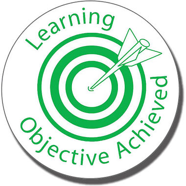 Learning Objective Achieved Stamper - Green Ink (25mm)