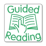 Guided Reading Stamper - Green Ink (25mm) Brainwaves