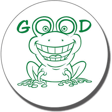 It's Good to be Green Frog Pre-inked Stamper