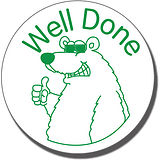 Well Done Polar Bear Pre-inked Stamper