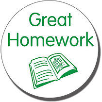 Great Homework' Stamper (21mm, Green Ink)