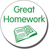 Great Homework Stamper - Green Ink (25mm)