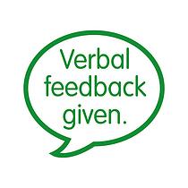 Verbal Feedback Given Green Stamper 21mm