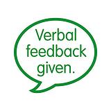 Verbal Feedback Given Pre-inked Stamper