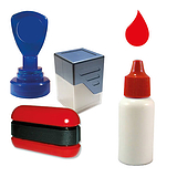 10ml Red Ink Refill for Standard Pre-inked Stampers