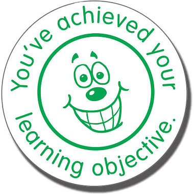 You've Achieved Your Learning Objective Stamper Green Ink (25mm)
