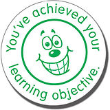 You've Achieved Your Learning Objective Pre-inked Stamper