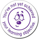 You've Not Yet Achieved Your Learning Objective' Stamper - Purple Ink (21mm)